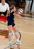 FIU outside hitter Jovana Bjelica (16) plays against Western Kentucky in the semi-finals of the Sunbelt Conference Volleyball Tournament.  Western Kentucky won the match 3-0 on November 18, 2011 at Miami, Florida. .