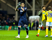 Leeds United&rsquo;s Kiko Casilla applauds the fans<br /> <br /> Photographer Alex Dodd/CameraSport<br /> <br /> The EFL Sky Bet Championship - Preston North End v Leeds United -Tuesday 9th April 2019 - Deepdale Stadium - Preston<br /> <br /> World Copyright &copy; 2019 CameraSport. All rights reserved. 43 Linden Ave. Countesthorpe. Leicester. England. LE8 5PG - Tel: +44 (0) 116 277 4147 - admin@camerasport.com - www.camerasport.com