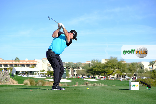 Rory Sabbatini (SVK) during the 1st round of the Waste Management Phoenix Open, TPC Scottsdale, Scottsdale, Arisona, USA. 31/01/2019.<br /> Picture Fran Caffrey / Golffile.ie<br /> <br /> All photo usage must carry mandatory copyright credit (&copy; Golffile | Fran Caffrey)