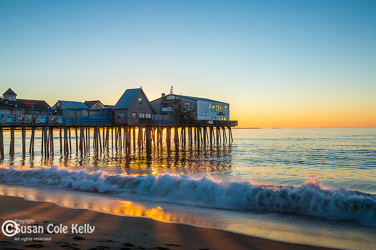 The Old Orchard Beach Pier in Old Orchard Beach, Maine, USA