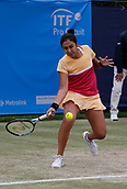 June 16th 2017, The Northern Lawn tennis Club, Manchester, England; ITF Womens tennis tournament; Zarina Dyas (KAZ) in action during her quarter final singles match against Magdalena Frech (POL); Dyas won in straight sets and meets number six seed Naomi Broady (GBR) in tomorrow's semi-finals