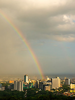 Rainbow over Cebu City, Philippines