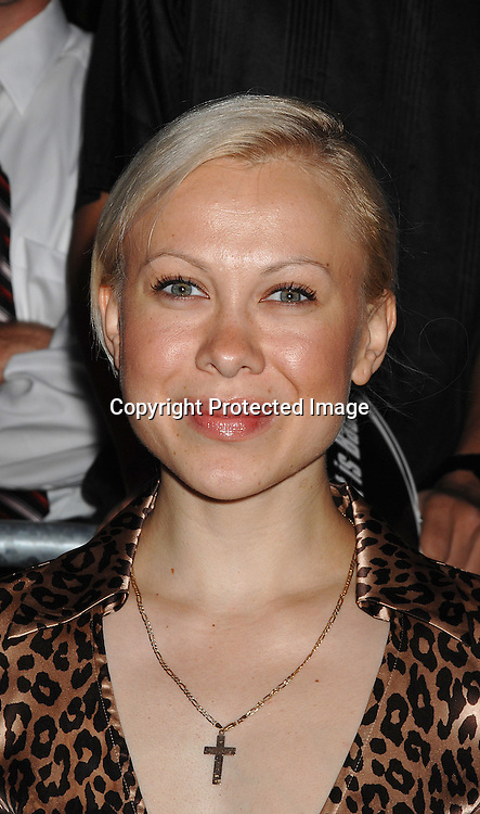 "Oksana Baiul in Diane Von Furstenberg dress..arriving at The ""Live Free or Die Hard "" movie premiere on June 22, 2007 at Radio City Music Hall in New York. ..Robin Platzer, Twin Images....212-935-0770"