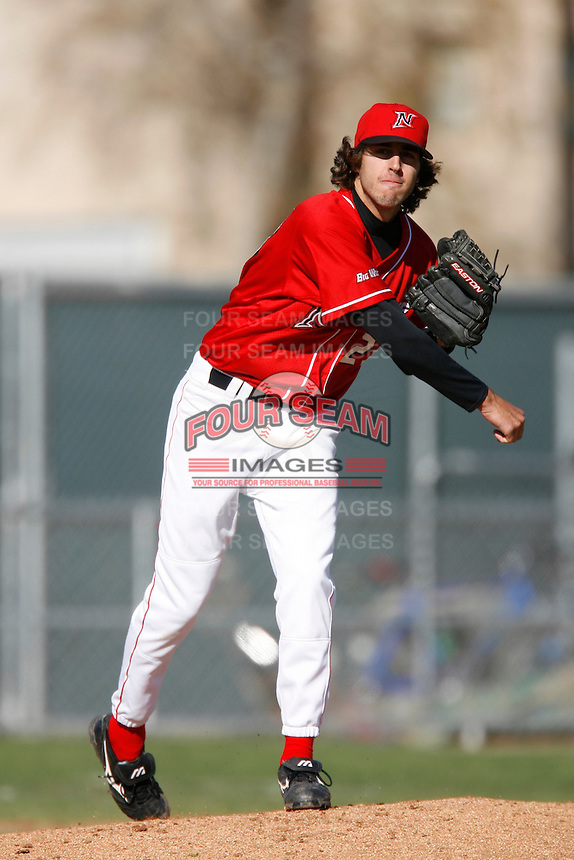 Joe Rocchio of the Cal State Northridge Matadors during a game against the Oklahoma State Cowboys at Matador Field on February 23, 2007 in Northridge, California. (Larry Goren/Four Seam Images)