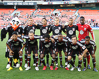 Starting eleven of D.C.United during an MLS match against the Kansas City Wizards at RFK Stadium on May 5 2010, in Washington DC. United won 2-1