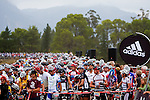 Riders congregate at the start of stage one of the 2010 Absa Cape Epic Mountain Bike stage race from Diemersfontein Wine estate, Wellington, to Ceres in the Western Cape, South Africa on the 21 March 2010.Photo by Karin Schermbrucker/SPORTZPICS