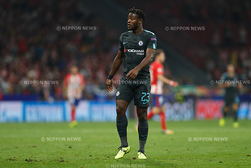 Michy Batshuayi (Chelsea), SEPTEMBER 27, 2017 - Football / Soccer : UEFA Champions League Mtchday 2 Group C match between Club Atletico de Madrid 1-2 Chelsea FC at the Estadio Metropolitano in Madrid, Spain. (Photo by Mutsu Kawamori/AFLO) [3604]