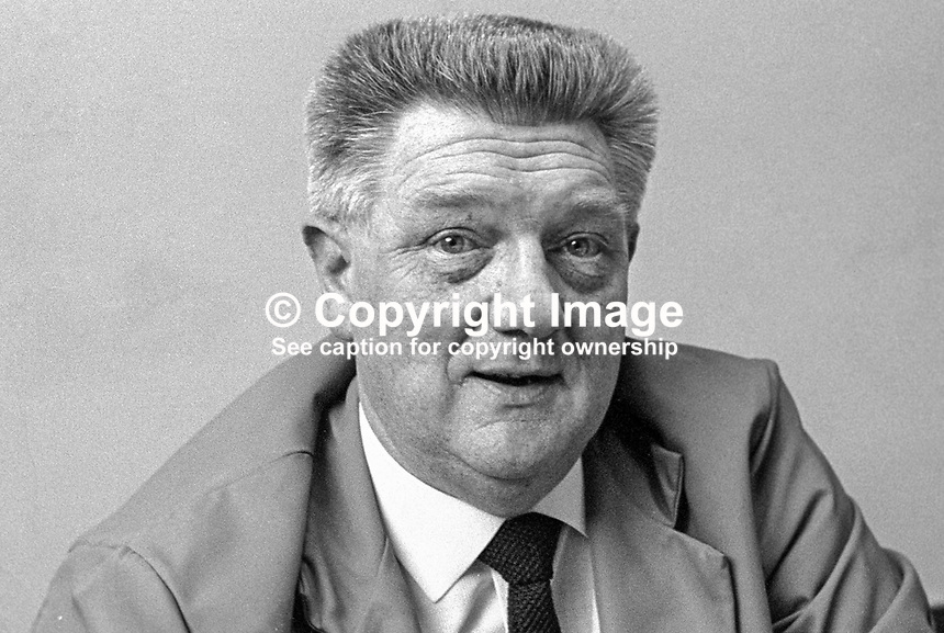 James Graham, aka Jimmy Graham, N Ireland secretary, Amalgamated Union of Engineering Workers. 197012000449a.<br />