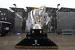 ATLANTA, GEORGIA - DECEMBER 08: Giant MLS Cup Trophy. Atlanta United FC and the Portland Timbers played on December 8, 2018, at Mercedes Benz Stadium in Atlanta, Georgia in MLS Cup 2018. Atlanta United won the championship final 2-0.