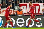07.11.2018, Allianz Arena, Muenchen, GER, UEFA CL, FC Bayern Muenchen (GER) vs AEK Athen (GRC), Gruppe E, UEFA regulations prohibit any use of photographs as image sequences and/or quasi-video, im Bild Jubel nach dem Tor zum 1-0 durch Robert Lewandowski (FCB #9) mit Leon Goretzka (FCB #18) <br /> <br /> Foto &copy; nordphoto / Straubmeier