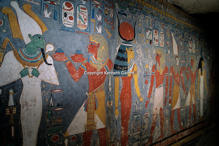 Egypt's Valley of the Kings; Ritual offerings to Osiris; Tomb of Horemheb; Egypt