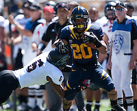 September 8, 2012: California's Isi Sofele tries to rush for more yardage during a game against Southern Utah at Memorial Stadium, Berkeley, Ca
