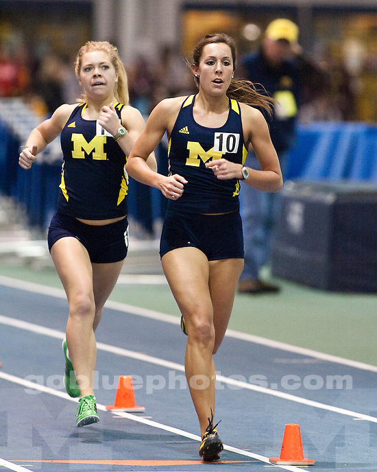 The University of Michigan women's track and field team hosted the Simmons-Harvey Invitational at the UM Indoor Track and Field Building in Ann Arbor, Mich., on January 21, 2012.