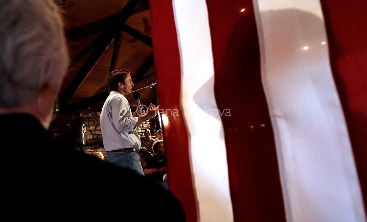 Democratic Presidential hopeful John Edwards (D-NC) campaigns in Ackley, IA, on July 13, 2007.