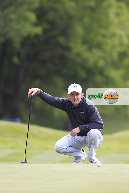 Peter LAWRIE (IRL) during round 1 of the 2015 BMW PGA Championship over the West Course at Wentworth, Virgina Water, London. 21/05/2015<br /> Picture Fran Caffrey, www.golffile.ie: