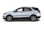 Car driver side profile view of a 2019 Chevrolet Equinox Premier 5 Door SUV