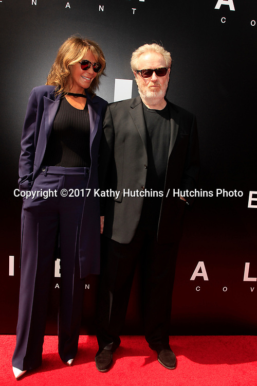 LOS ANGELES - MAY 17:  Giannina Facio, Ridley Scott at the Ridley Scott Hand and Foot Print Ceremony at the TCL Chinese Theater on May 17, 2017 in Los Angeles, CA