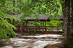 Old footbridge in Gatlinburg, TN, USA