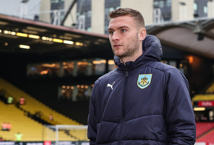 Burnley's Ben Gibson pictured before the match<br /> <br /> Photographer Andrew Kearns/CameraSport<br /> <br /> The Premier League - Watford v Burnley - Saturday 19 January 2019 - Vicarage Road - Watford<br /> <br /> World Copyright &copy; 2019 CameraSport. All rights reserved. 43 Linden Ave. Countesthorpe. Leicester. England. LE8 5PG - Tel: +44 (0) 116 277 4147 - admin@camerasport.com - www.camerasport.com