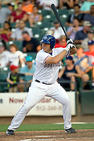 Round Rock Express outfielder Brad Nelson #30 at bat during a game against the Memphis Redbirds at the Dell Diamond on July 7, 2011in Round Rock, Texas.  Round Rock defeated Memphis 6-4.  (Andrew Woolley / Four Seam Images)