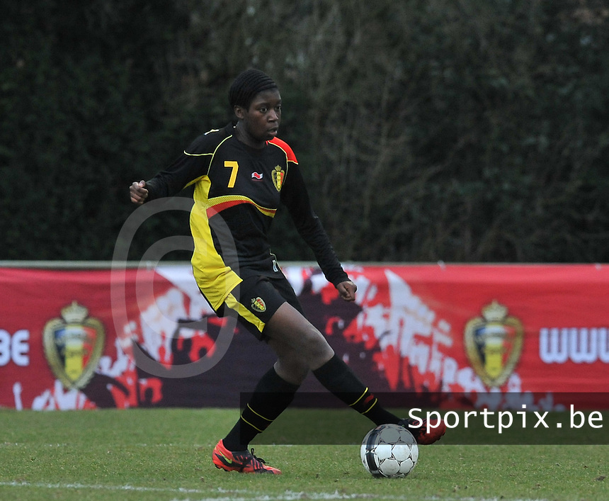 Denmark U17 - Belgium U17 : Henriette Awete.foto DAVID CATRY / Vrouwenteam.be