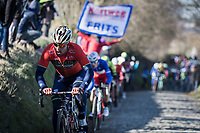 Sonny Colbrelli (ITA/Bahrain Merida) up the Oude Kwaremont<br /> <br /> 70th Kuurne-Brussel-Kuurne 2018 (1.HC)