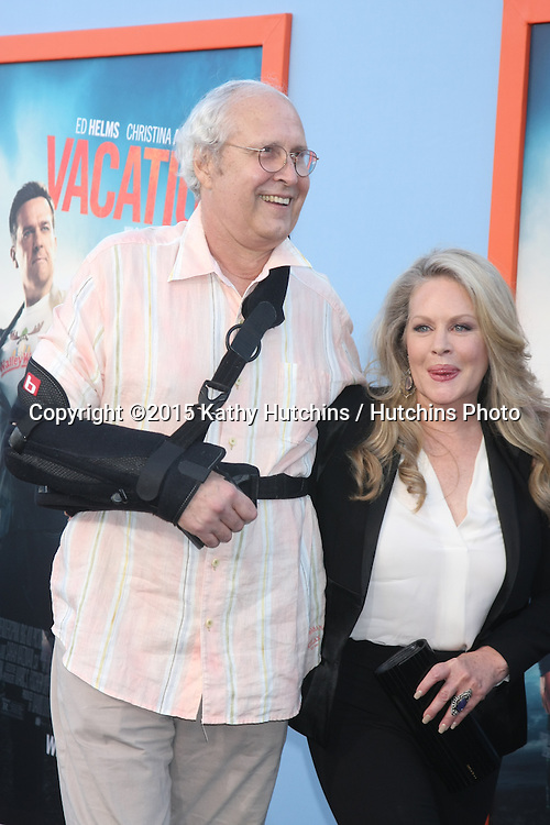 "LOS ANGELES - JUL 27:  Chevy Chase, Beverly D'Angelo at the ""Vacation"" Premiere at the Village Theater on July 27, 2015 in Westwood, CA"