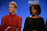 Sharon Stone &amp; Alfre Woodard at the nominations announcement for the 75th Annual Golden Globe Awards at The Beverly Hilton Hotel, Beverly Hills, USA 11 Dec. 2017<br /> Picture: Paul Smith/Featureflash/SilverHub 0208 004 5359 sales@silverhubmedia.com