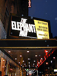 The Elephant Man.Royale Theatre Marquee.Starring BILLY CRUDU, KATE BURTON.and RUPERT GRAVES.Written by Bernard Pomerance.Directed by Sean Mathias.Credit All Uses..© Walter McBride /  , USA.