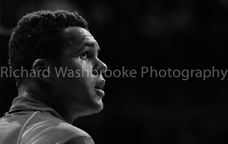 Jo Wilfried Tsonga (FRA)  7:5  3:6  6:1 loses to Tomas Berdych (CZE)..Barclays ATP World Tour Finals 2012  O2 Arena .Photo: Richard Washbrooke Tennis Head