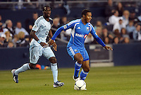 Patrice Bernier (8) midfield Montreal Impact in action..Sporting Kansas City defeated Montreal Impact 2-0 at Sporting Park, Kansas City, Kansas.