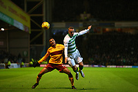 5th February 2020; Fir Park, Motherwell, North Lanarkshire, Scotland; Scottish Premiership Football, Motherwell versus Celtic; Leigh Griffiths of Celtic and Jermaine Hylton of Motherwell challenge for the ball