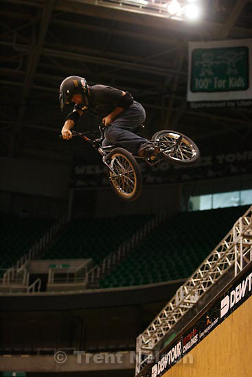 Trent Nelson  |  The Salt Lake Tribune.BMX Vert Preliminaries at the Dew Tour. Heat 1:.Dennis McCoy crashes