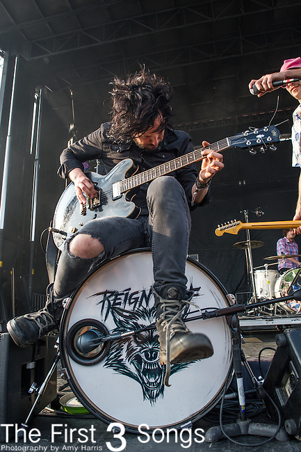 Reignwolf performs during the Forecastle Music Festival at Waterfront Park in Louisville, Kentucky.