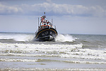 The new Clogherhead lifeboat RNLB Michael O'Brien arriving on the beach in Clogherhead, Louth, Ireland. 02/06/2019.<br /> Picture Fran Caffrey / Newsfile.ie<br /> <br /> All photo usage must carry mandatory copyright credit (© Newsfile   Fran Caffrey)