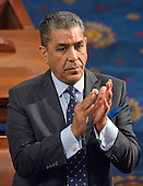 United States Representative Adriano Espaillat (Democrat of New York) applauds the Speaker's remarks on the floor of the US House of Representatives during his first day in office in the US Capitol in Washington, DC on Tuesday, January 3, 2017.<br /> Credit: Ron Sachs / CNP<br /> (RESTRICTION: NO New York or New Jersey Newspapers or newspapers within a 75 mile radius of New York City)
