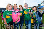 Kerry Fans at the Kerry v Kildare championship clash on Saturday evening at Fitzgerald stadium, from left: Kerry Fans at the match were Leah and Ann Boyle (Scartaglen), Eileen Scollard (Ballydesmond), Josie Cassidy (Rathmore), Noreen Scollard (Ballydesmond)