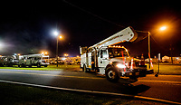 FPL processing Mutual Assistance Crews at the Lake City Processing Site in Lake City, Fla. on September 7, 2017.