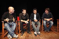 Vincenzo Mollica, Ferzan Ozpetek, Fausto Brizzi, Paolo Genovese, Luciano Pieraccioni .Firenze 06/04/2013 Teatro del Sale.Rai Screenings 2013 Convegno Rai Cinema.Foto Andrea Staccioli Insidefoto