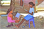 Young Girls Studying