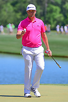 Jon Rahm (ESP) after sinking his putt on 2 during round 2 of the Shell Houston Open, Golf Club of Houston, Houston, Texas, USA. 3/31/2017.<br /> Picture: Golffile | Ken Murray<br /> <br /> <br /> All photo usage must carry mandatory copyright credit (&copy; Golffile | Ken Murray)