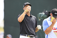Ryan Palmer (USA) on the 10th tee during Friday's Round 2 of the 117th U.S. Open Championship 2017 held at Erin Hills, Erin, Wisconsin, USA. 16th June 2017.<br /> Picture: Eoin Clarke | Golffile<br /> <br /> <br /> All photos usage must carry mandatory copyright credit (&copy; Golffile | Eoin Clarke)