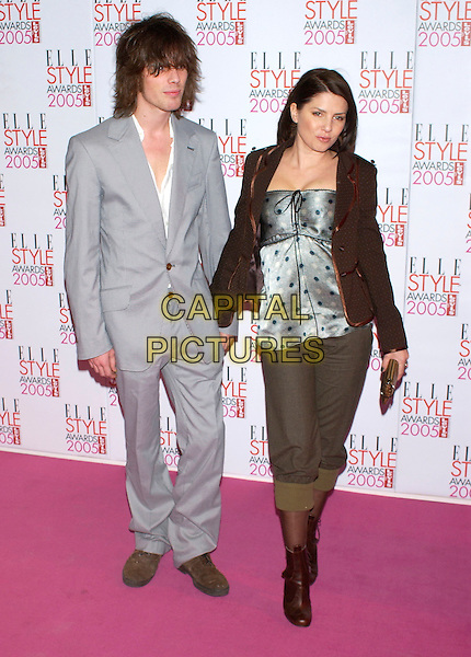 JACKSON SCOTT & SADIE FROST .Elle Style Awards 2005,.Spitalfields Market, London, .February 15th 2005..full length couple.Ref: PL.www.capitalpictures.com.sales@capitalpictures.com.©Capital Pictures.