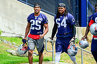 June 7, 2017: New England Patriots defensive back Eric Rowe (25) and linebacker Dont'a Hightower (54) walk to practice at the New England Patriots mini camp held on the practice field at Gillette Stadium, in Foxborough, Massachusetts. Eric Canha/CSM