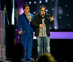 CORAL GABLES, FL - APRIL 28: Juan Gabriel and Gustavo Farias onstage at the Billboard Latin Music Awards at the BanKUnited Center on Thursday April 28, 2016 in Coral Gables, Florida. ( Photo by Johnny Louis / jlnphotography.com )