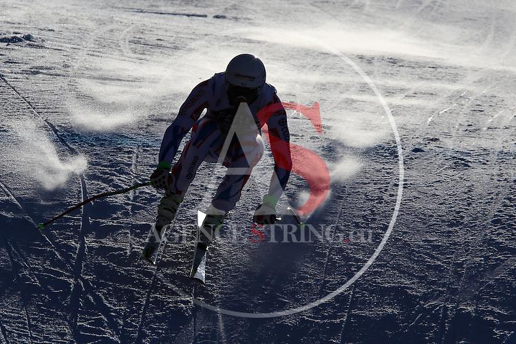 Adrien THEAUX competes during the FIS Alpine Ski World Cup Men's Super-G in Val Gardena, on December 18, 2015. www.pierreteyssot.com
