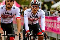 LLANOGRANDE - COLOMBIA, 14-02-2019: Juan Sebastián Molano, (COL) de UAE Emirates, durante la tercera etapa del Tour Colombia 2.1 2019 con un recorrido de 167.6 Km, que se corrió en un circuito con salida y llegada en el Complex Llanogrande. / Juan Sebastian Molano (COL) of UAE Emirates team during the third stage of the Tour Colombia 2.1 2019 with a distance of 167.6 km, which was run on a circuit with start and finish at the Complex Llanogrande. Photo: VizzorImage / Anderson Bonilla / Cont.