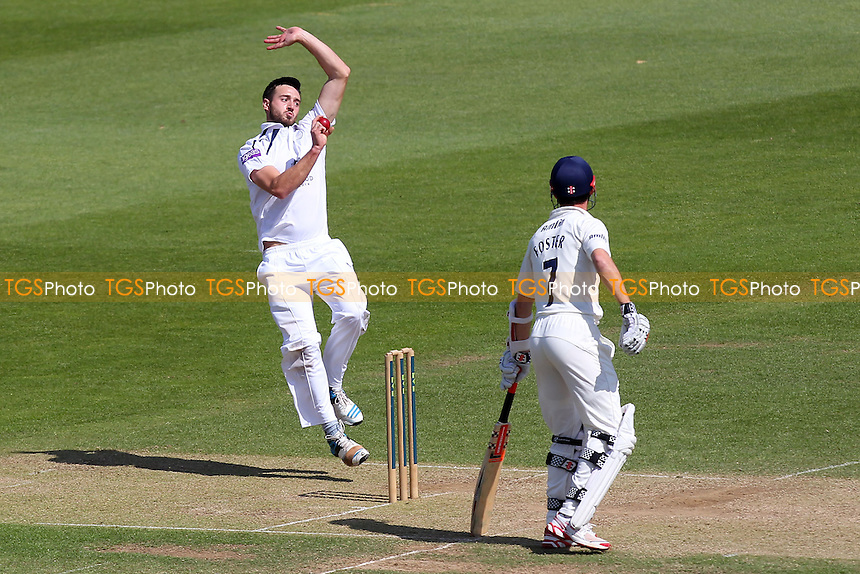James Vince in bowling action for Hampshire - Hampshire CCC vs Essex CCC - LV County Championship Division Two Cricket at the Ageas Bowl, West End, Southampton - 17/06/14 - MANDATORY CREDIT: Gavin Ellis/TGSPHOTO - Self billing applies where appropriate - 0845 094 6026 - contact@tgsphoto.co.uk - NO UNPAID USE