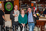 Dart Tournament in aid of Recovery Haven Tralee was held last Sunday night in the Ploughman Bar Abbeyfeale are John Dillane, Carriona Kenrick & Johnny Dillane all from Kilmanihan , Knocknagoshel.