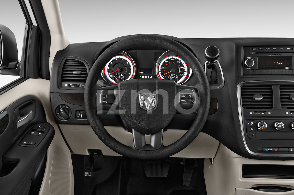 Car pictures of steering wheel view of a 2015 Ram base tradesman 5 Door Cargo Van
